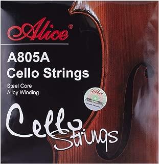 Alice Steel Core Nickel Chromium Winding Cello Strings 4/4 Full Set (A-D-G-C)