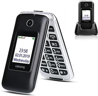 Ushining 3G Unlocked Senior Flip Phone Dual Screen T Mobile Flip Phone Unlocked Big Button Large Volume Basic Cell Phone w...