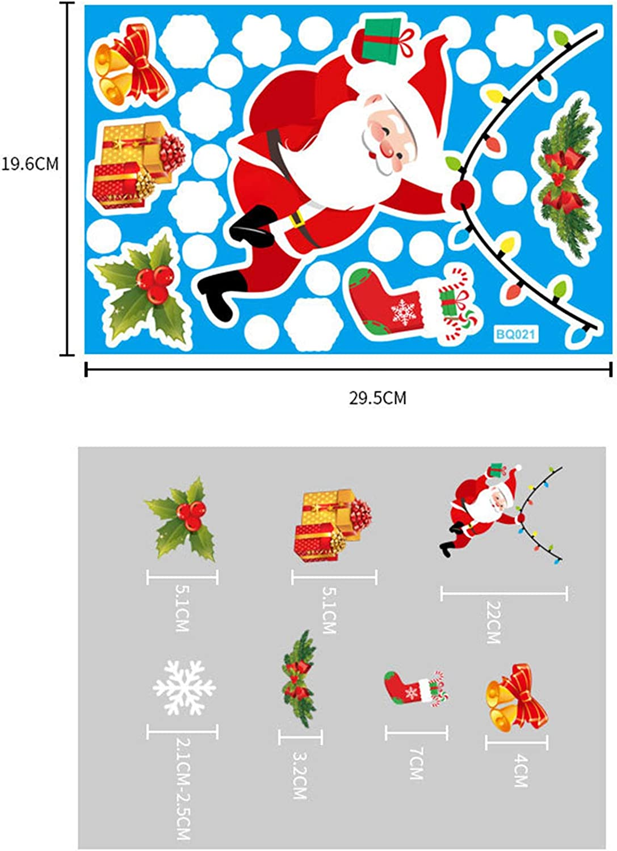 Haimist Christmas Window Stickers Window Clings PVC Staic Stickers for Christmas Window Display A