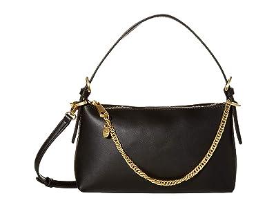 ZAC Zac Posen Posen Zip Top Crossbody (Black) Handbags