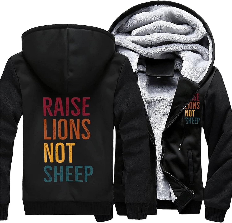 Raise Lions Not 2021 model Max 48% OFF Sheep Men's hoodie fleece warm winter jacket jac