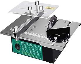 Sierra de mesa portátil de sobremesa, Sierras de mesa, sierras de mesa portátiles 120W con siete velocidades de husillo de adaptador de corriente 2000-12000 rpm Hacer corte de molienda para manualidad