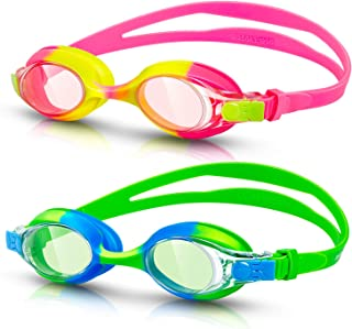 rabofly Swim Goggles, Kids Swimming Goggles No Leaking Anti Fog UV Protection Clear Vision Triathlon Goggles for Adult Youth Child…