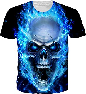 OPCOLV Unisex Cool Graphic T-Shirts Funny 3D Printed Tee Shirt Summer Casual Short Sleeve Tops
