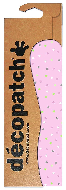 décopatch Pastel Heart Paper, 30 x 40 cm, Pack of 3 Sheets