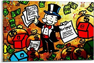 SHEFEI ALEC Monopoly Canvas Art Poster and Wall Art Picture Print Modern Family Bedroom Decor Posters 24x36inch(60x90cm)