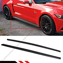Fits for 2015-2019 Ford Mustang GT Ecoboost S550 R Style Add-on Rocker Panel Side Skirt Extension Splitters