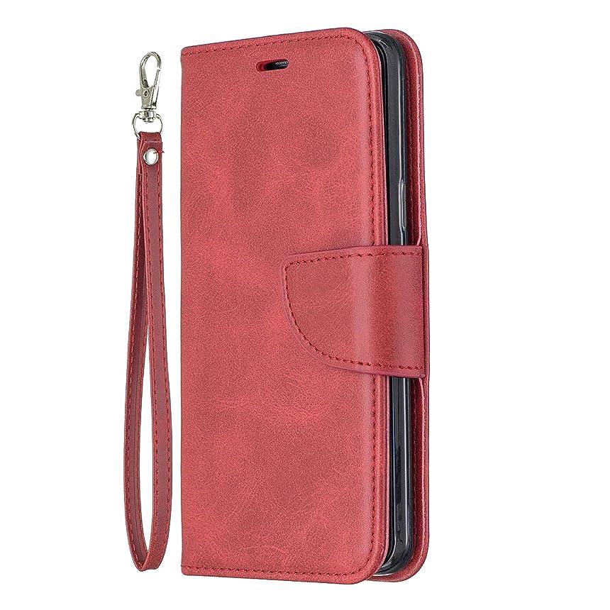 矩形振幅同一のNEXCURIO Galaxy S9 / docomo SC-02K / au SCV38 ケース 手帳型 PU レザーケース 耐衝撃 カード収納 スタンド機能 マグネット式 ギャラクシーS9 ケース 携帯カバー おしゃれ - NEBFE150218 赤