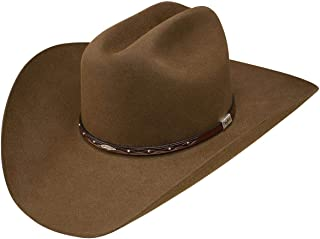 49094caa69ecc7 Resistol Men's George Strait by Santa Clara 6X Felt Cowboy Hat Bark ...