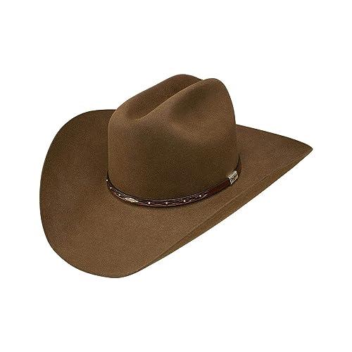 dd9d730d400 Resistol Men s George Strait by Santa Clara 6X Felt Cowboy Hat Bark 7 ...