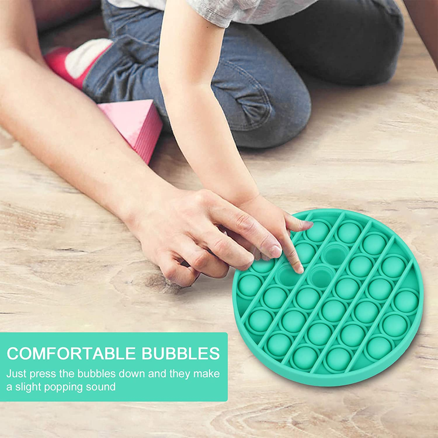 Durable Squeeze Sensory Toy for Training Logical Thinking/Soft Silicone for Anxiety Stress Push Pop Bubble Sensory Fidget Toy
