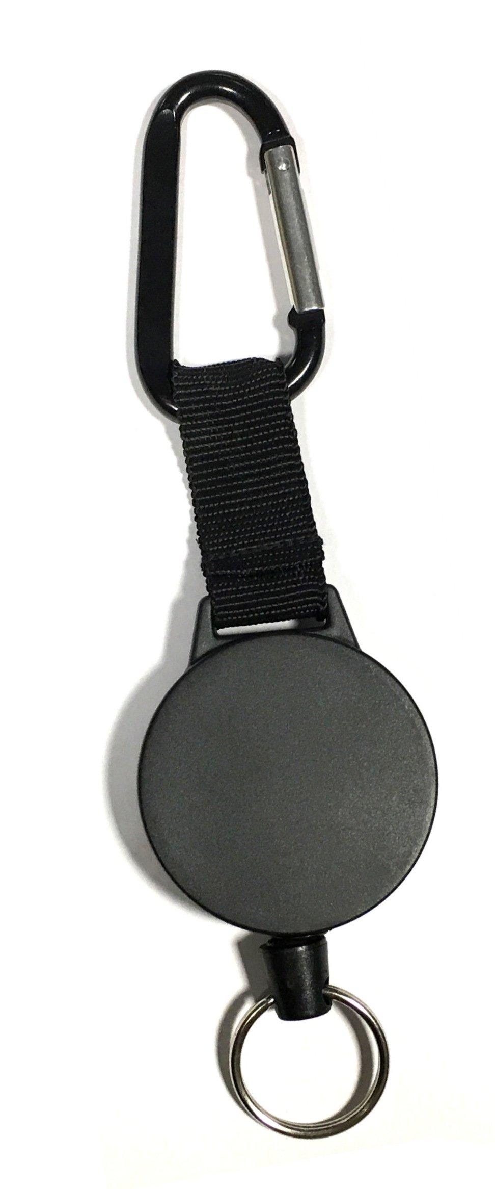 Swivel JE 9H 1pc Retractable Key Chain /& Badge Reel Holder Carabiner Clip