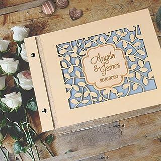 Guestbook matrimonio, libro delle firme e dediche del matrimonio, in legno, personalizzato, album famiglia per foto, idea ...