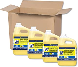 Dishwashing Liquid Soap Detergent by Joy Professional, Bulk Degreaser Removes Greasy Foods from Pots, Pans and Dishes in Commercial Restaurant Kitchens, Lemon Scent, 1 gal. (Case of 4)