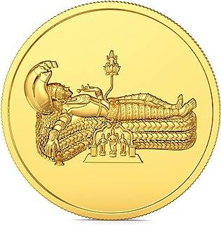 Joyalukkas 22k (916) 4 gm BIS Hallmarked Yellow Gold Precious Coin with Lord Vishnu Design