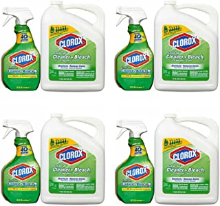 Clorox Clean-Up Cleaner Spray with Bleach and Refill Combo, 32 Ounce Spray Bottle + 180 Ounce Refill (4 Combo Pack)