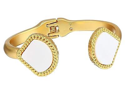 Vince Camuto Spring Hinge Bracelet (Worn Gold/Mother-of-Pearl) Bracelet