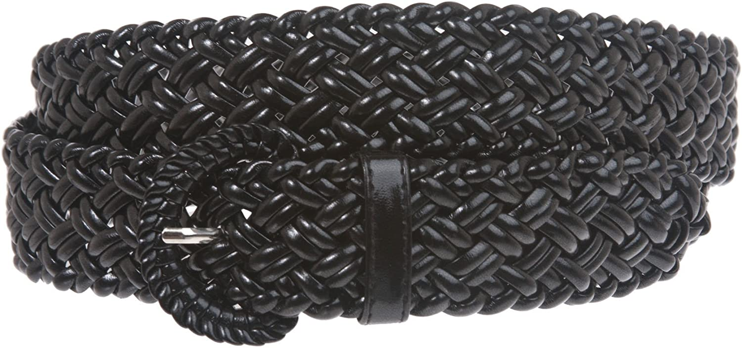 1 1 4 Inch Wide Metallic Braided Woven Belt