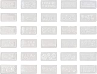 COSMOS Pack of 30 Different DIY 3D Silicone Acrylic Nail Art Decortive Design Mold
