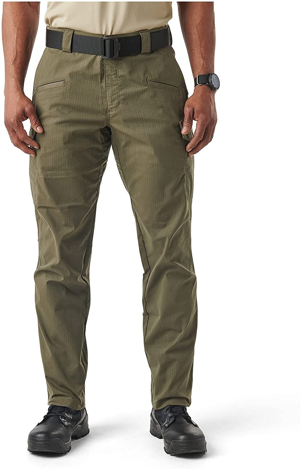 5.11 Tactical Men's Icon Cargo Pant, Flax-Tac Stretch, Guessted, Teflon Finish, Style 74521