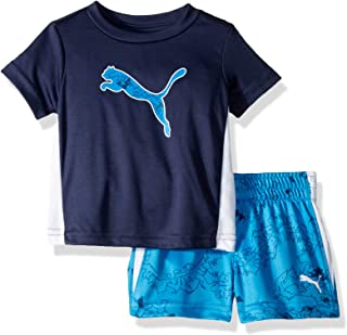 PUMA Baby-Boys 01195766TME-P496 Boys' T-Shirt & Short Set Shorts Set - Blue