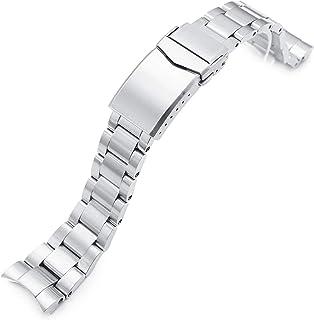 Strapcode, bracciale per orologio, 20 mm, super 3D, in acciaio inox 316L, per Tudor BB58, con chiusura a V spazzolato