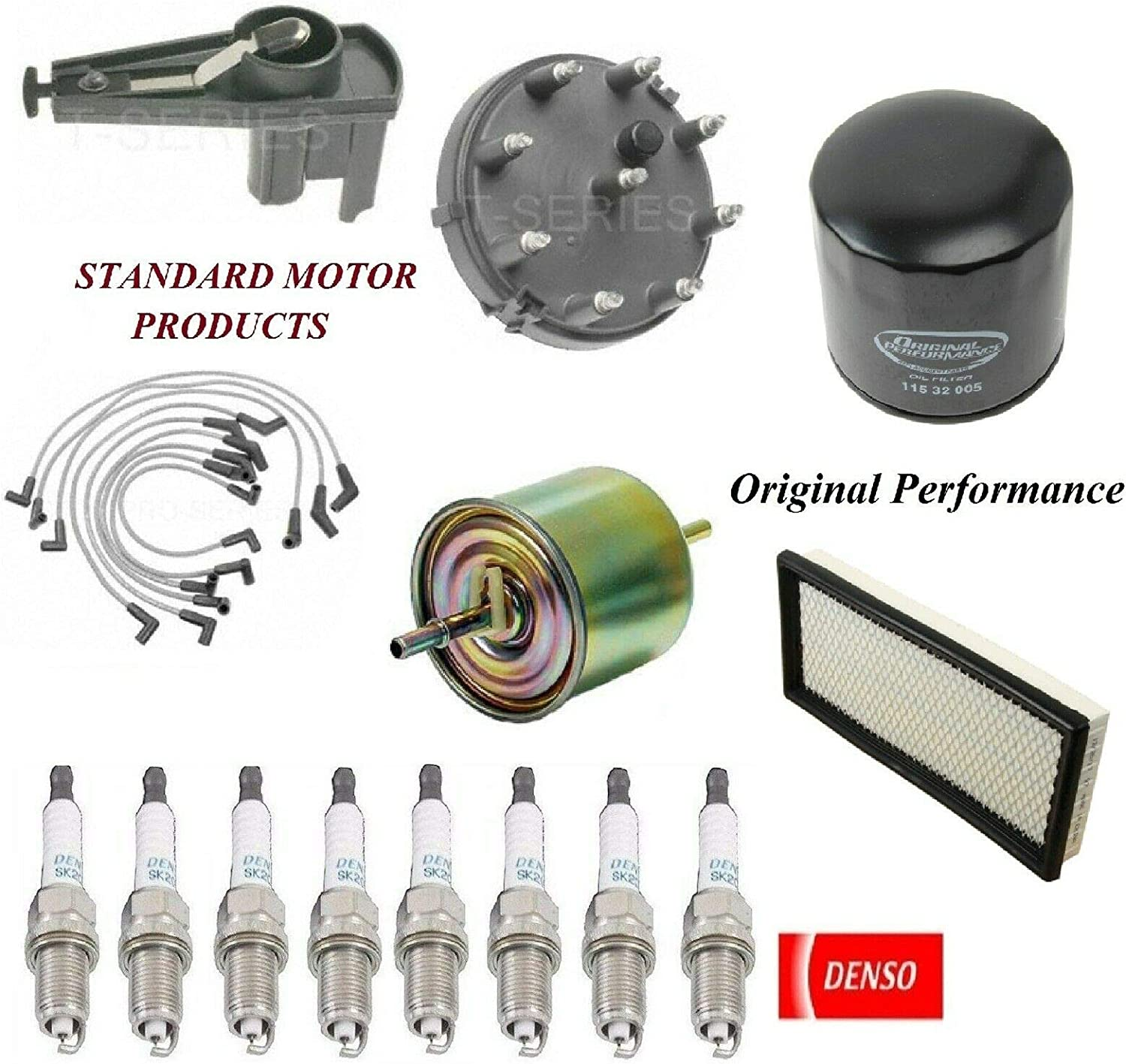 8USAUTO Tune Up Kit free Free shipping / New Air Oil Fuel Plugs F-2 Ford Filters Wire FIT