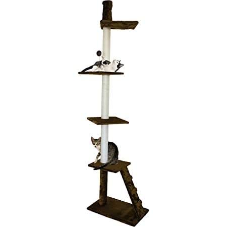 Amazon Com Furhaven Pet Cat Tree Tiger Tough Cat Tree House Perch Entertainment Playground Furniture For Cats And Kittens Ladder Playground Brown Pet Supplies