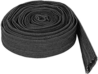 Black Nylon Protective Sleeve Sheath Cable Cover for Welding Torch Hydraulic Hose for Plasma Torch Hose Hydraulic Hoses Stick Welding Cables Maxmartt 25ft Nylon Protective Sleeve
