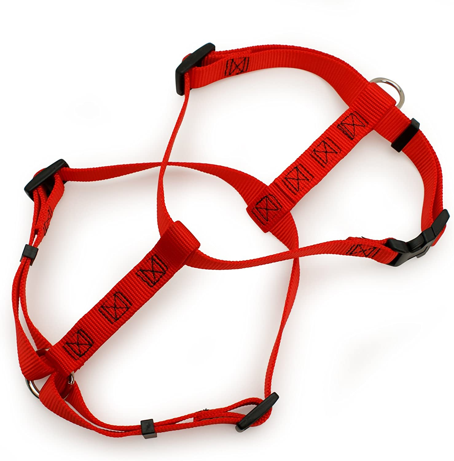Aspen Pet Products Adjustable Nyl Harness, Red, 2836  x 1