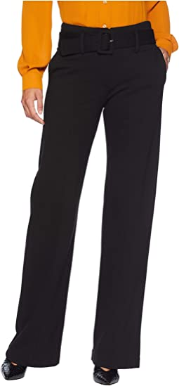 Taylor Trousers Belted High-Rise in Super Stretch Ponte Knit