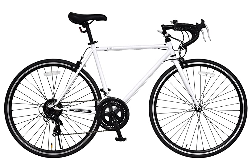 八楕円形ブラウンアニマト(ANIMATO) ロードバイク DEUCE (デュース) 700C シマノ14段変速 A-14