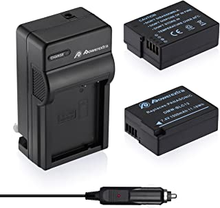 Powerextra 2 Pack Battery and Charger Compatible with Panasonic DMW-BLC12, DMW-BLC12E, DMW-BLC12PP and Panasonic Lumix DMC-G85, DMC-FZ200, DMC-FZ1000, DMC-G5, DMC-G6, DMC-G7, DMC-GH2, DMC-GX8
