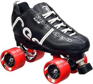 Labeda New Voodoo U3 Quad Roller Speed Skates Customized Black w/Red Dart Wheels!