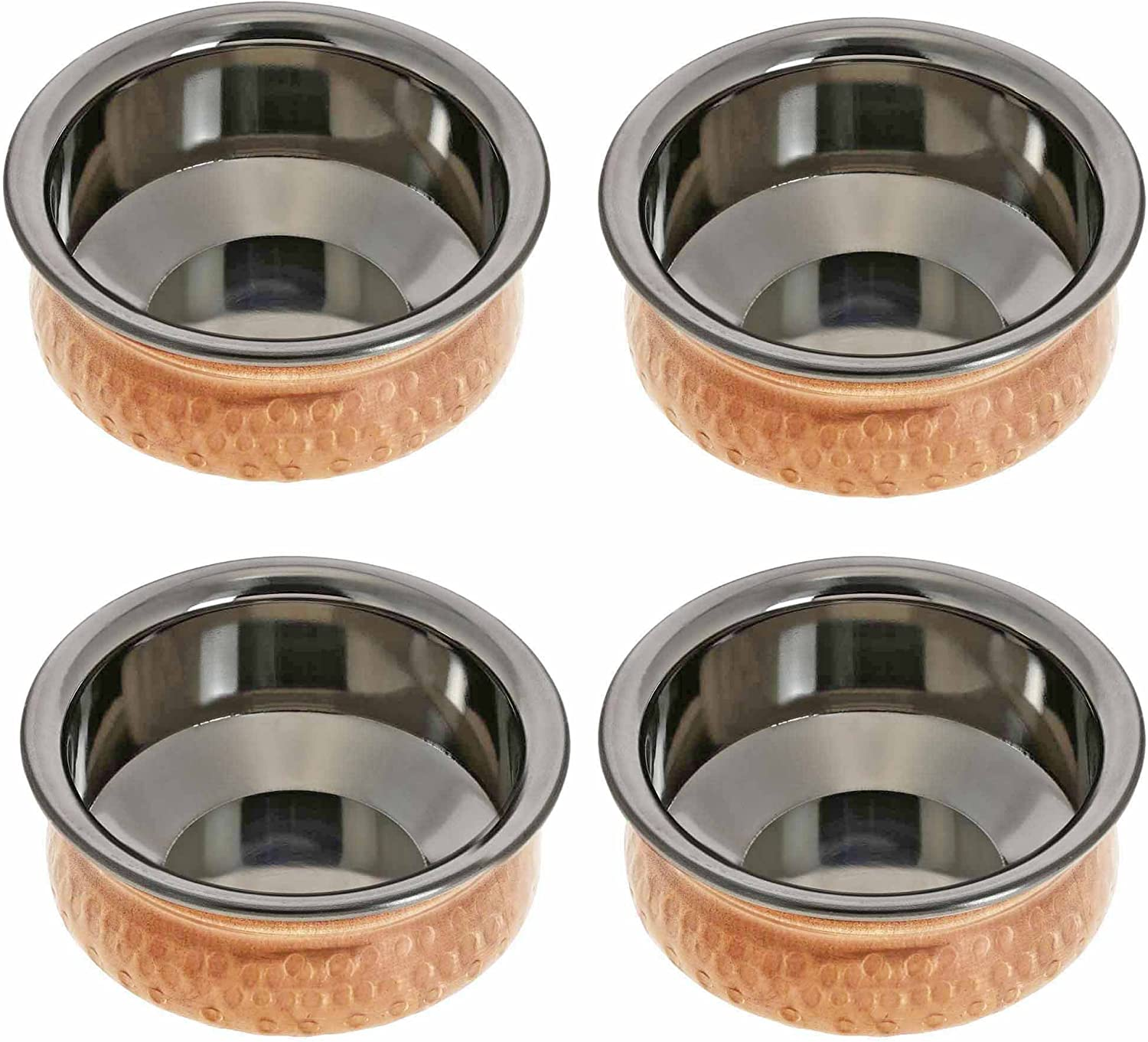 4 Inches Handmade Indian Copper Bowls Set Fort Worth Mall Genuine Free Shipping of Dinnerware Bowl -