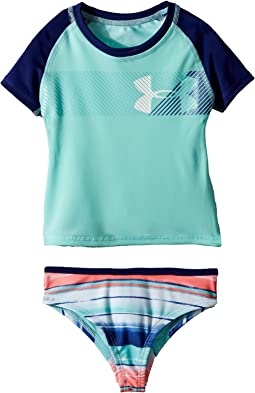 Under Armour Kids - Hybrid Big Logo Rashguard Set (Toddler)