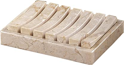 Creative Home Natural Champagne Marble Stone SPA Collection 2 Pieces Bar Dish, Soap Tray