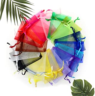 PlayCraftz Sachet Bags (50pcs in 10 colors) for putting your Aroma Beads, Dried Flowers as Decorative pieces and as Fragrance Bags in the Car, Rooms, Office, Storage Areas.