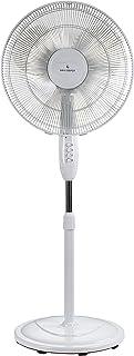 ANJI DEPOT 60W third gear ,16'' Fan, Air Cooling Fans, Pedestal fan, Oscillating Fans, Electric Fan, Adjustable Height Standing Fan, Extendable Floor Fans Ideal for Home and Office(White)