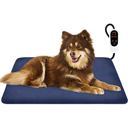 Nemobub Pet Heating Pad,Thermal Thick Cashmere self-Heating Blanket,Cordless Theropy Dog Cat Heating Pad,Replaceable Wachable Cover,Anti-Slip Bottom,Suit for Most Dog Cat Bed Cage,23.6 x17.7