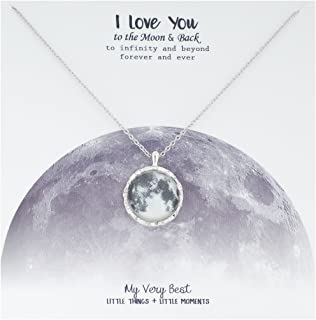 My Very Best I Love You to The Moon & Back Full Moon Necklace