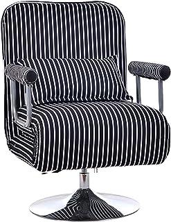 Krzesło biurowe Ergonomiczne biurko komputerowe Krzesło, składane krzesła do gier z poduszką, regulowana wysokość oparcia ...