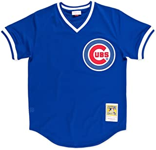 Mitchell & Ness Ryne Sandberg Blue Chicago Cubs Authentic Mesh Batting Practice Jersey