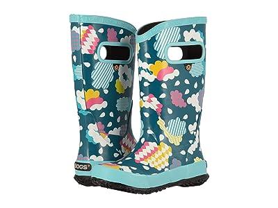 Bogs Kids Rainboot Clouds (Toddler/Little Kid/Big Kid) (Aqua Multi) Girls Shoes