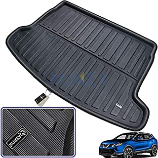 Boot Liner Cargo Tray Rear Trunk Liner Floor Mat,for Qashqai J10 J11 2007 2008 2009 2010 2011 2012 2013 2014 2015 2016 2017 2018 2019 Tailored Sheet Carpet Luggage Tray Waterproof