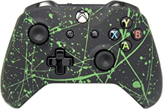 Hand Airbrushed Color Burst Wireless Custom Controller - Compatible with Xbox One (Matte Green)