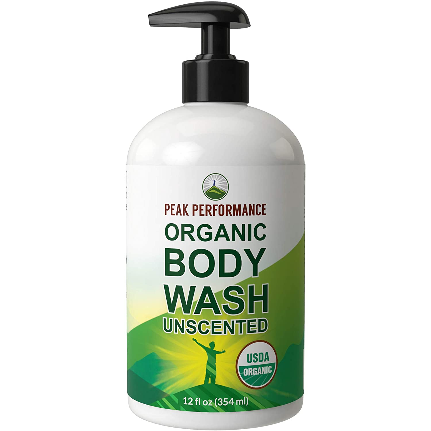 USDA Organic Body Wash - Unscented And Great For Sensitive Skin. Natural Organic Vegan Body Wash Made Organic Plant Oils And Extracts. Free of Toxins, And Chemical Detergents. Made in USA