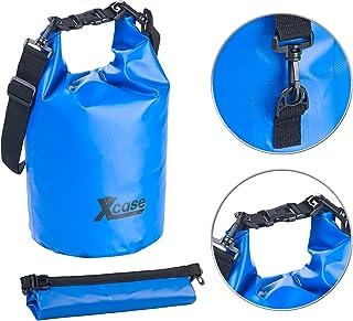 Xcase Tasche wasserdicht: Wasserdichter Packsack, strapazierfähige Industrie-Plane, 10 l, blau Seesäcke LKW-Plane