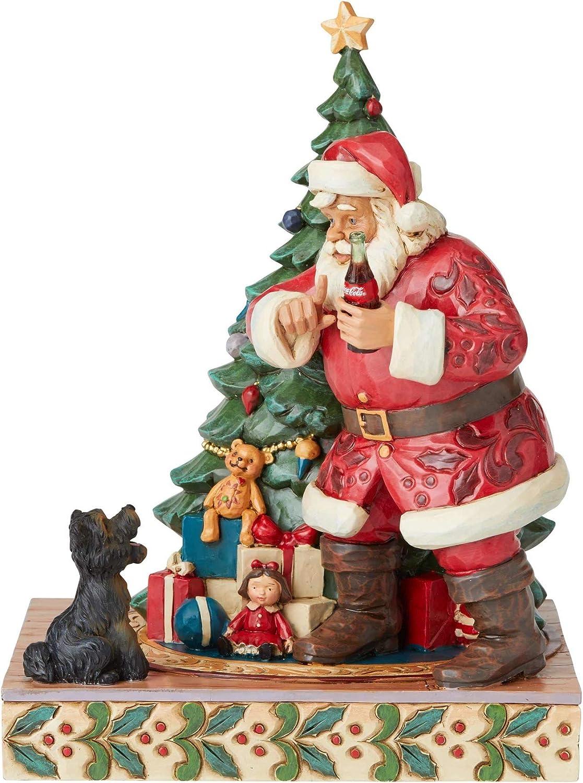 Enesco Jim Ultra-Cheap Deals Shore Coca Max 41% OFF Cola Santa with Hushing Dog Coke Figurine