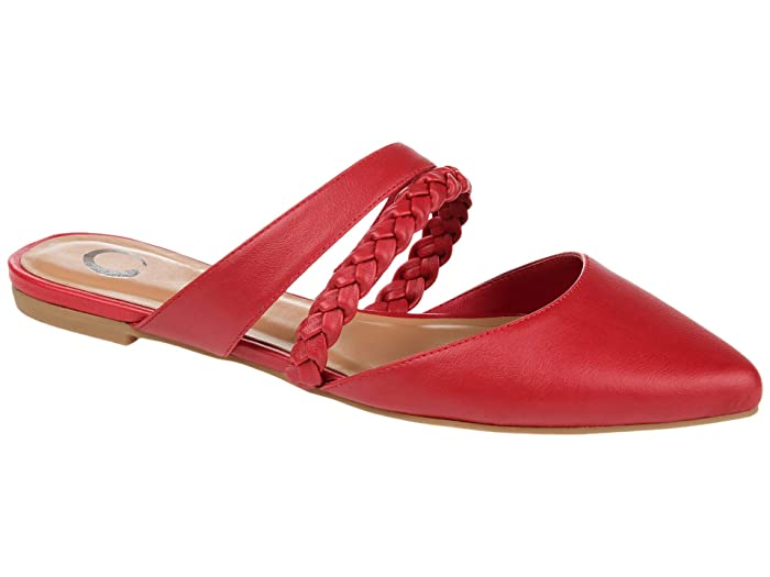 Retro Vintage Flats and Low Heel Shoes Journee Collection Comfort Foam Olivea Mule Red Womens Shoes $42.99 AT vintagedancer.com